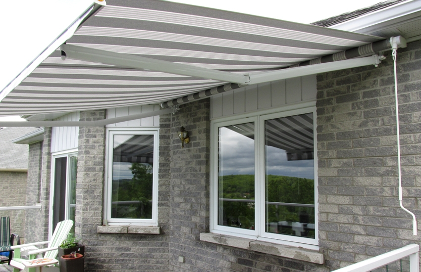 Awning installed under overhang