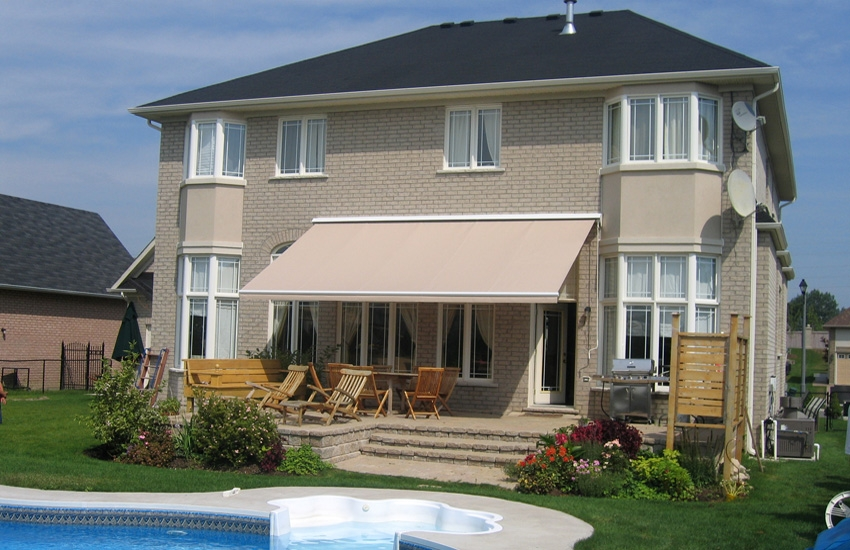 Beige Awning Rolltec 174 Retractable Awnings Toronto