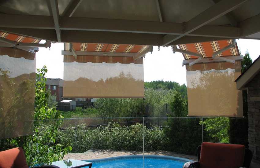 Tilt O Shades Over Gazebo Rolltec 174 Retractable Awnings