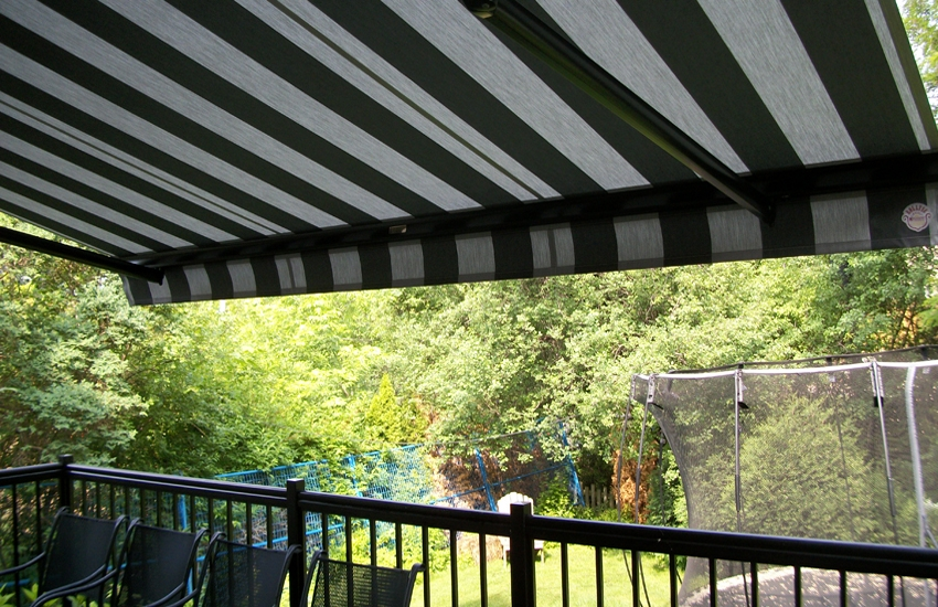 Awning under the soffit