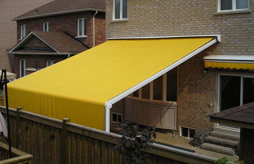 Yellow Atrium awning