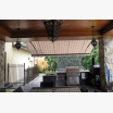 Awning over outdoor kitchen